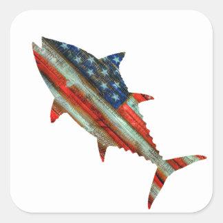USA Merica Tuna Square Sticker