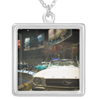 USA, Michigan, Detroit: Ford Rouge Factory Tour, Square Pendant Necklace
