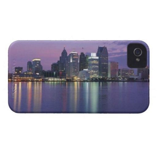 USA, Michigan, Detroit skyline, night Blackberry Bold Covers
