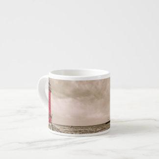 USA, Michigan, Grand Haven Lighthouse Espresso Mug