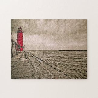 USA, Michigan, Grand Haven Lighthouse Jigsaw Puzzle