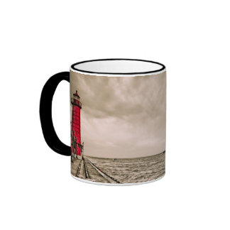 USA, Michigan, Grand Haven Lighthouse Ringer Mug