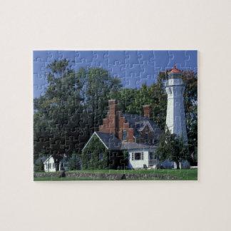 USA, Michigan, Lake Huron. Port Sanilac Jigsaw Puzzle