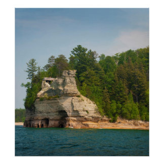 USA, Michigan. Miner's Castle Rock Formation 2 Poster