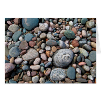 USA, Michigan. Polished Pebbles On The Shore Card
