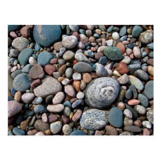 USA, Michigan. Polished Pebbles On The Shore Postcard