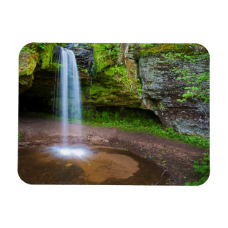 USA, Michigan. Scott's Falls In Upper Michigan Magnet