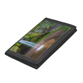 USA, Michigan. Scott's Falls In Upper Michigan Tri-fold Wallet