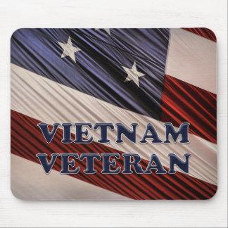 USA Military Patriotic Flag Vietnam Veteran Mouse Pad