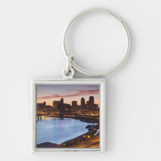 USA, Minnesota, Minneapolis, St. Paul 2 Silver-Colored Square Key Ring