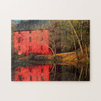 USA, Missouri, Alley Mill At Alley Spring Ozark Puzzle