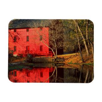USA, Missouri, Alley Mill At Alley Spring Ozark Rectangular Photo Magnet