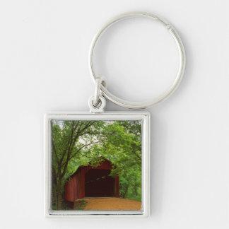 USA, Missouri, Jefferson County, Sandy Creek Silver-Colored Square Key Ring