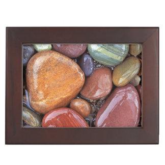 USA, Montana, Clark Fork River, Stones 2 Keepsake Box