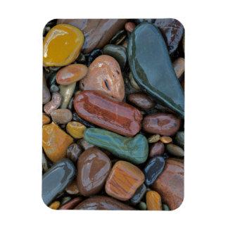 USA, Montana, Clark Fork River, Stones Rectangular Photo Magnet