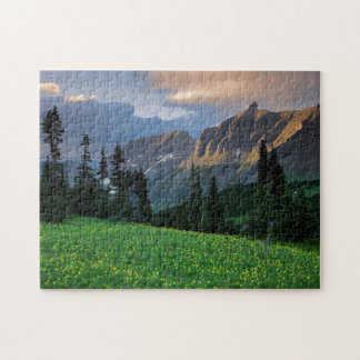 USA, Montana, Glacier National Park, Logan Pass Puzzle