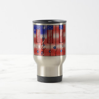 USA Musical Flag Travel Mug