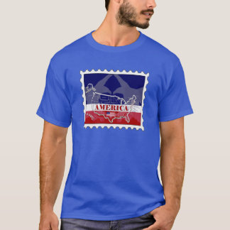 USA Named States Bald Eagle Stamp T-Shirt