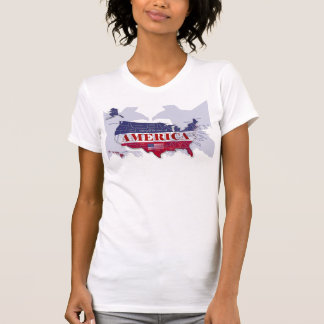 USA Named States Blue Bald Eagle T-Shirt