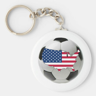 USA national team Basic Round Button Key Ring