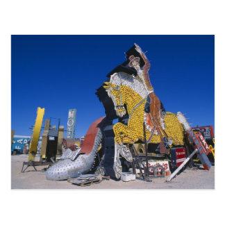 USA, Nevada, Las Vegas, signs in junkyard Postcard