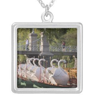 USA, New England, Massachusetts, Boston, Square Pendant Necklace