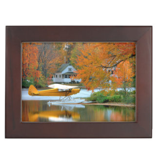 USA, New England, New Hampshire. Float Plane Memory Boxes