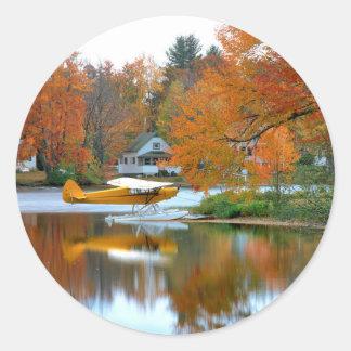 USA, New England, New Hampshire. Float Plane Sticker