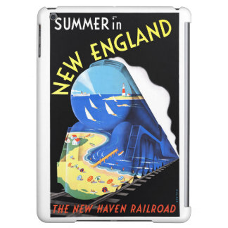 USA New England Vintage Travel Poster Restored iPad Air Cover