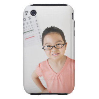 USA, New Jersey, Jersey City, Girl (6-7) at eye iPhone 3 Tough Case