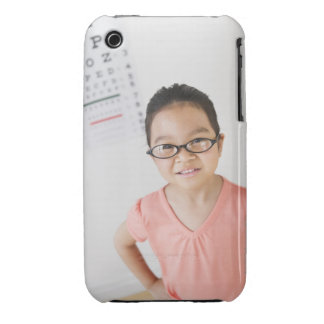 USA, New Jersey, Jersey City, Girl (6-7) at eye iPhone 3 Cases