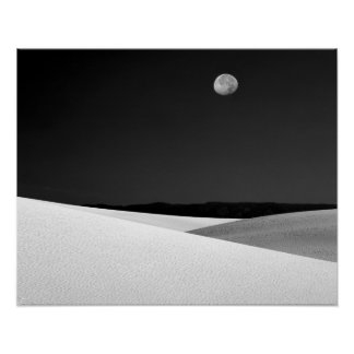 USA, New Mexico, White Sands National Monument. Poster