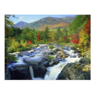 USA, New York. A waterfall in the Adirondack Postcard
