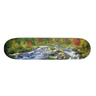 USA, New York. A waterfall in the Adirondack Skate Boards