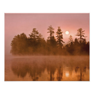 USA, New York, Adirondack Park. Sunrise on a Photo Art