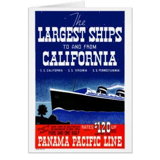 USA New York California Restored Vintage Poster Card