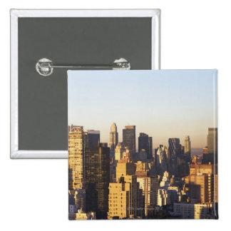 USA New York City Manhattan skyline 2 Pin