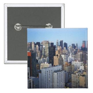 USA New York City Manhattan skyline Button
