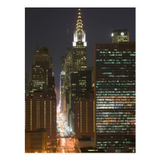 USA, New York City, View of Midtown with Postcard