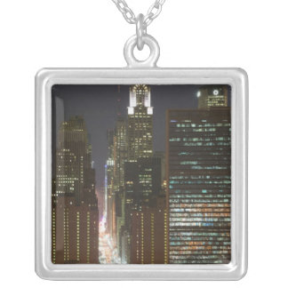 USA, New York City, View of Midtown with Square Pendant Necklace