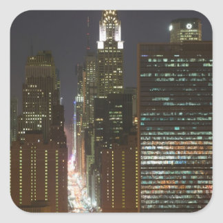 USA, New York City, View of Midtown with Square Sticker