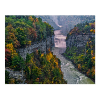 USA, New York, Letchworth State Park. River and Postcard