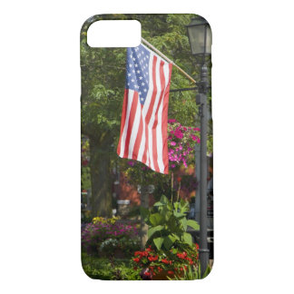 USA, New York, Lewiston. American flag attached iPhone 7 Case