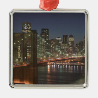 USA, New York, New York City, Manhattan: 10 Silver-Colored Square Decoration