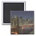USA, New York, New York City, Manhattan: 10 Square Magnet