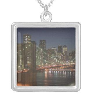 USA, New York, New York City, Manhattan: 10 Square Pendant Necklace