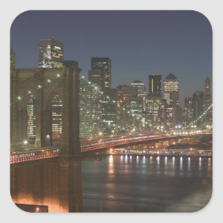 USA, New York, New York City, Manhattan: 10 Square Sticker
