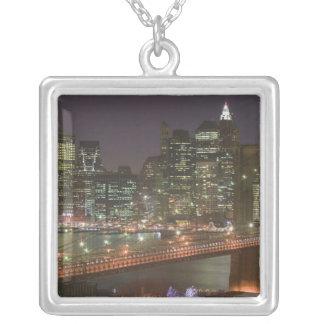 USA, New York, New York City, Manhattan: 11 Square Pendant Necklace