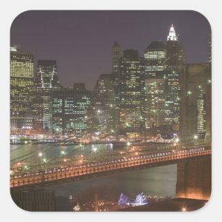 USA, New York, New York City, Manhattan: 11 Square Sticker