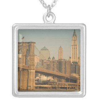 USA, New York, New York City, Manhattan: 9 Square Pendant Necklace